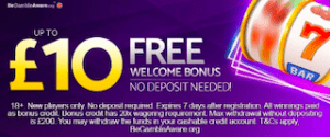 mFortune Casino £10 Free No Deposit