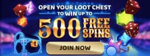 Win up to 500 Spins in a Loot Chest Today