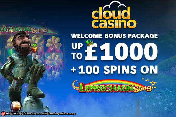 Welcome Bonus Package at Cloud Casino