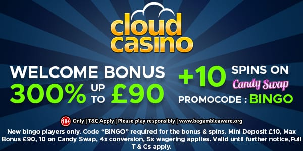 Cloud Casino Welcome Bonus for Bingo