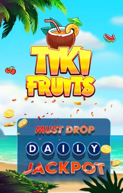 Play For The Impressive Daily Drop Jackpot on Tiki Fruits Today