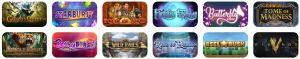 A Small Selection of The Games Offered at Slots Rush Casino