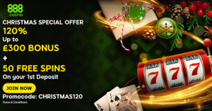 Christmas Special Offer at 888 Casino