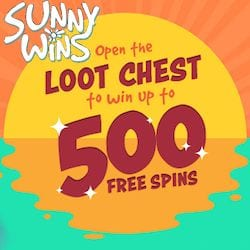 Open The Loot Chest To Win Up to 500 Spins
