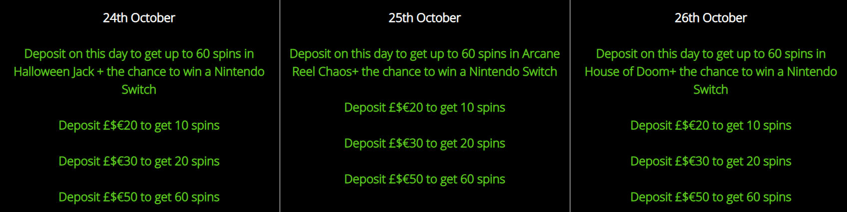 The Details of The Halloween Promotion