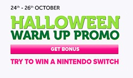 Take Part in The Halloween Warm Up Promotion