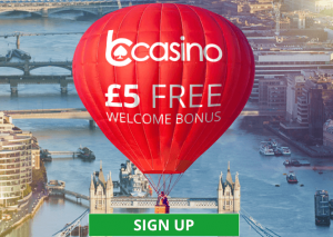 bCasino £5 Free Welcome Bonus - Sign Up Here