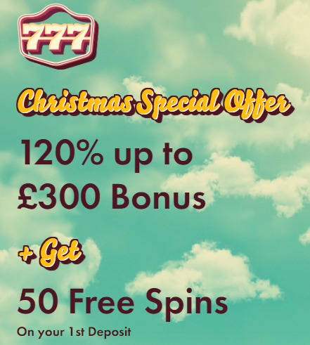 Christmas Special Offer at 777 Casino
