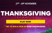 Take Part in the Thanksgiving Promotion at Next Casino This November