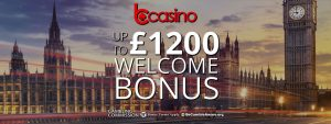 bCasino £1200 Welcome Package for Newbies