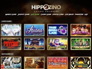 Hippozino Casino Games, Live Casino and Jackpots