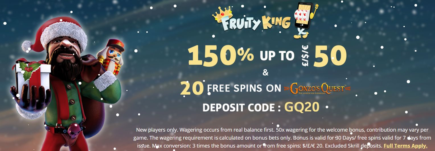 Visit Fruity King Casino To Get The Christmas Promotion
