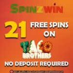 21 Free Spins No Deposit at Spinzwin