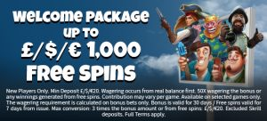 Welcome Package + Free Spins at Royalzee Casino