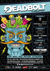 Deadbolt Liverpool - 10th Birthday - The Shipping Forecast & Jimmys - Poster - RGB For Web