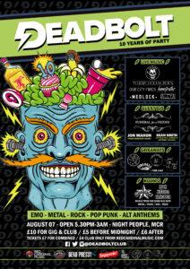 Deadbolt Manchester - 10th Birthday - Night People - Poster - RGB Web