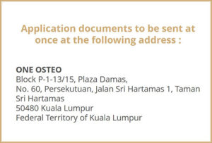 Picture showing the address to end the application documents