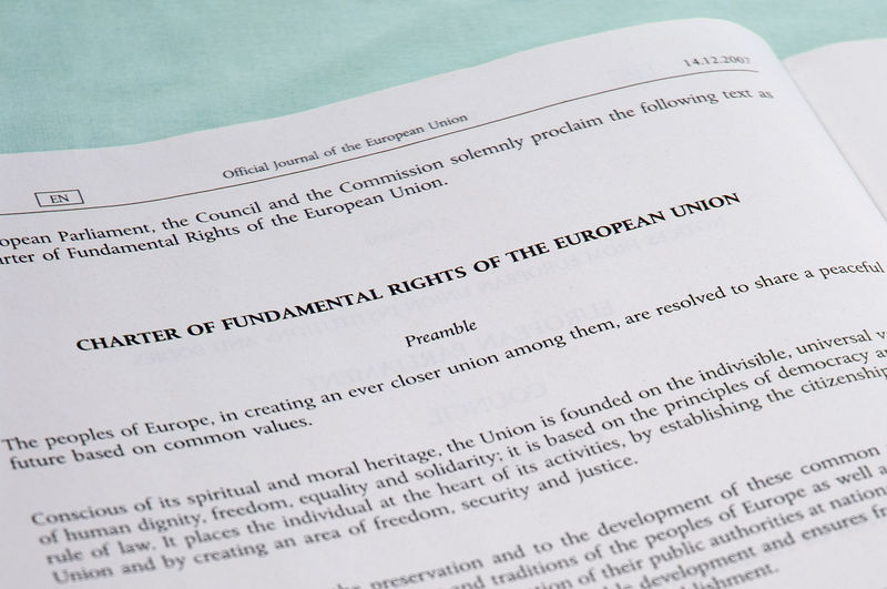 The preamble of the CFREU ©2008 Wikimedia Commons user Trounce. Licensed under CC-BY-SA