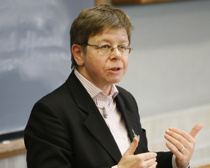 Picture of Eleanor Sharpston taken by Gregory Fox at a 2008 International Law Workshop organised at the University of Michigan Law School