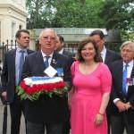 Anne Faure, President of the Fedération des Associations Francaises en Grande Bretagne (FAFGB), with Simon Horsington, Vice-President d'honneur founder of the FBLS