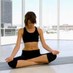 relax with slow circular head moements before meditation