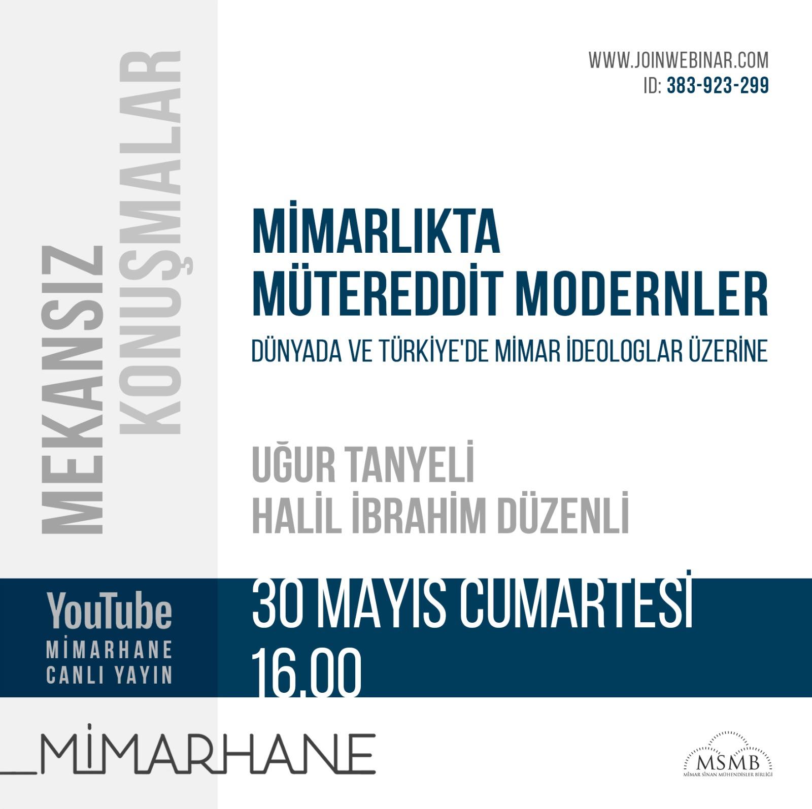 Mütereddit Modernler | Uğur Tanyeli | Halil İbrahim Düzenli | 30 Mayıs 2020