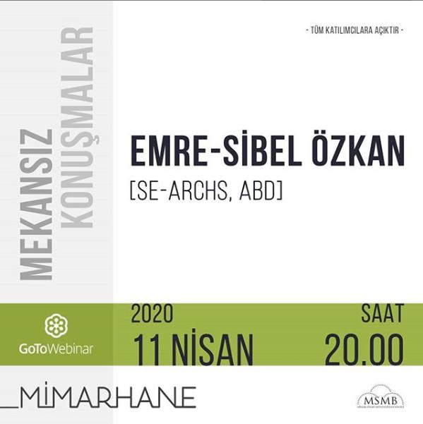 Emre – Sibel Özkan   M. Talha Öksüzoğlu   11 Nisan 2020