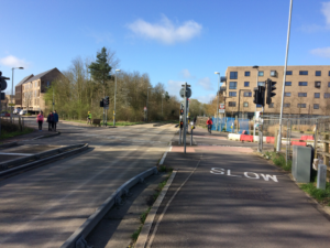 The crossing at Hobson's Ave should prioritise Busway users.