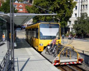 Stuttgart bus with bike rack