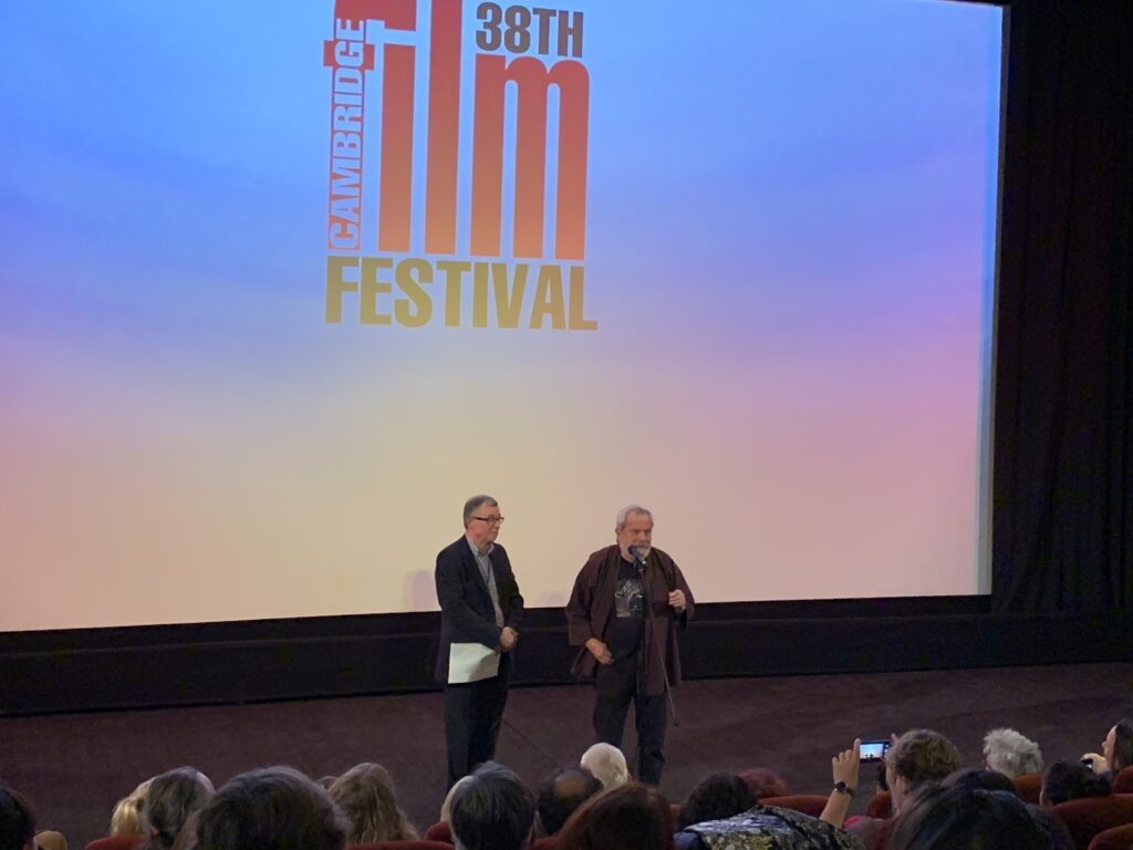 Tony Jones and Terry Gilliam at the opening night of CFF