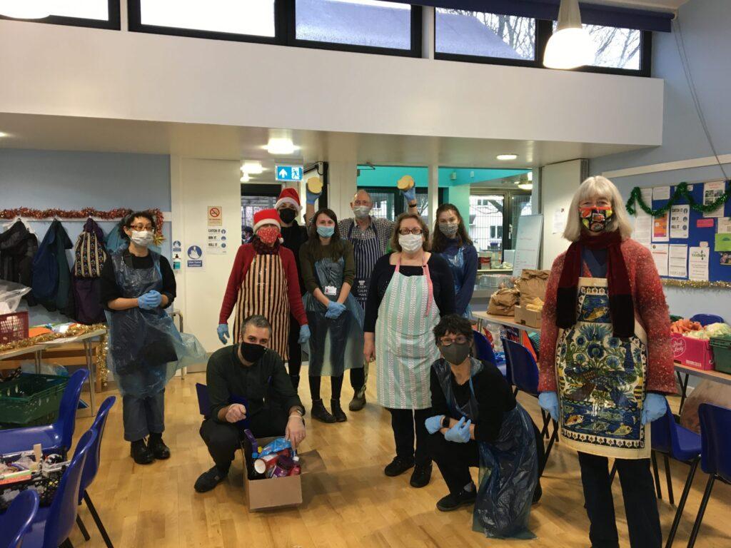 Food Hub Volunteers at Christmas 2020