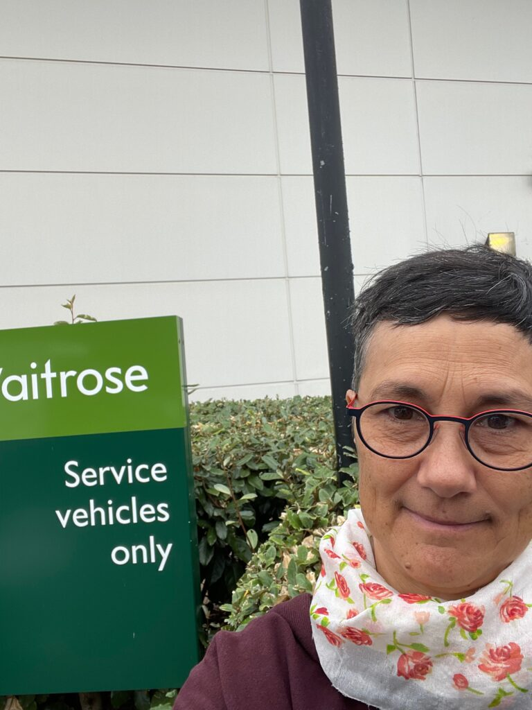 Katie collecting surplus food for the food hub from Waitrose