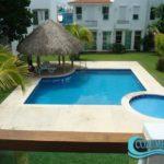 10.- Casa El Alamo - swimming pool area, Cozumel.