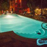 12.- Casa_Colonial swimming pool at night