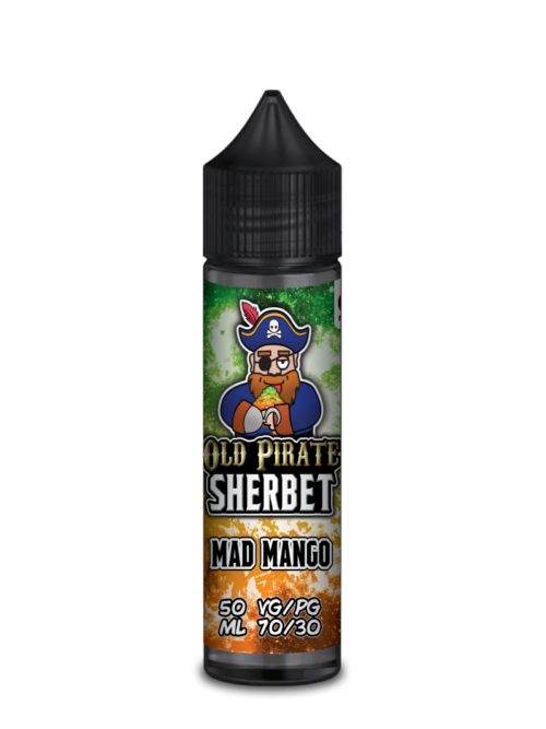 e-liquid bottle: Old Pirate Mad Mango Sherbet 60ml Shortfill