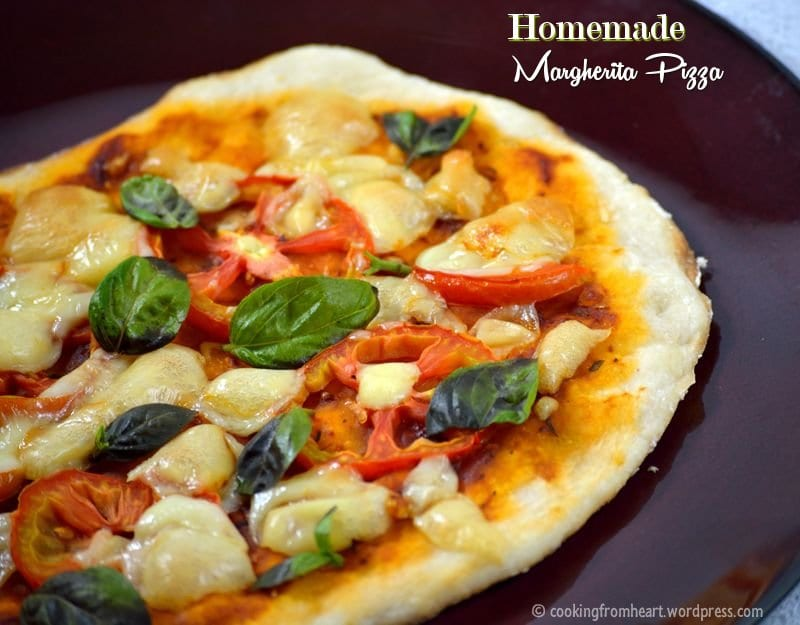 Homemade Margherita Pizza | Thin Crust Pizza