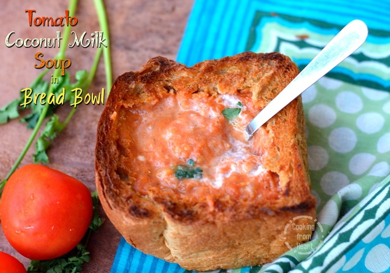 Tomato Soup in Bread Bowl