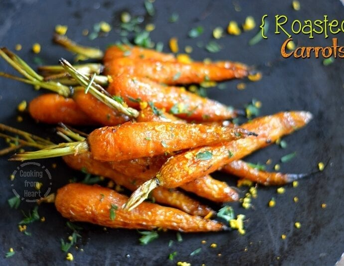 Honey Orange Roasted Carrots | Roasted Baby Carrots