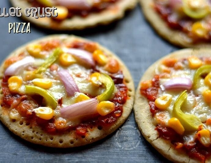 Millet Crust Pizza | Healthy Gluten Free Veggie Pizza
