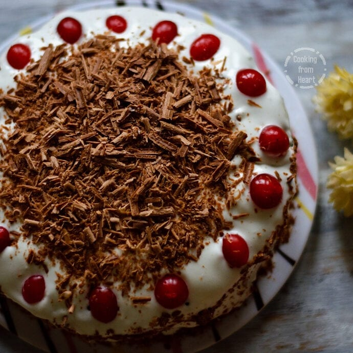Eggless Black Forest Cake | Birthday Celebration Cakes