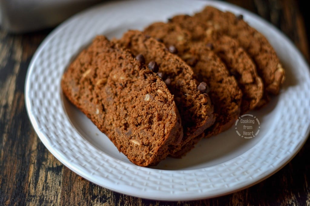 Eggless Chocolate Banana Bread