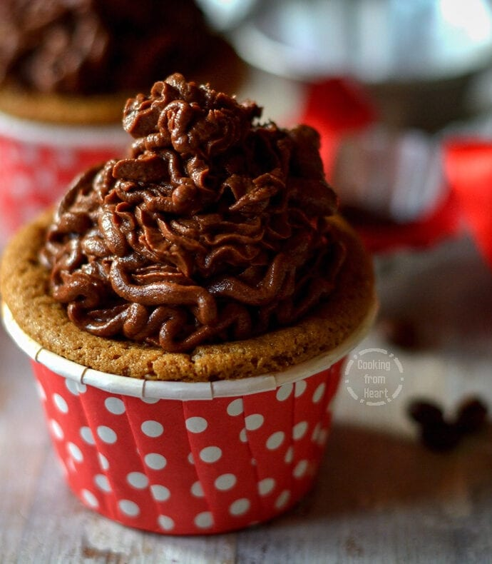 Eggless Coffee Cupcakes
