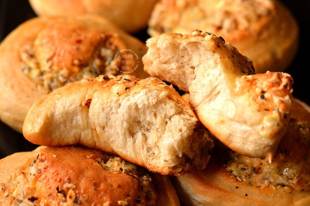 Cheese Stuffed Crusty Bread