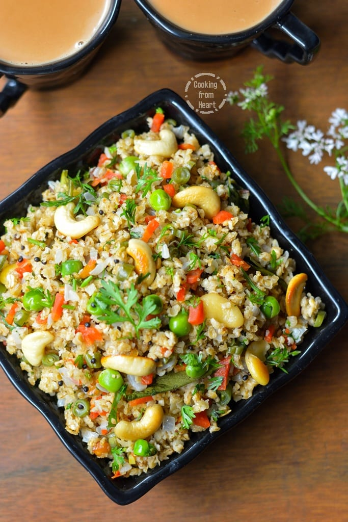 Vegetable Oats Upma
