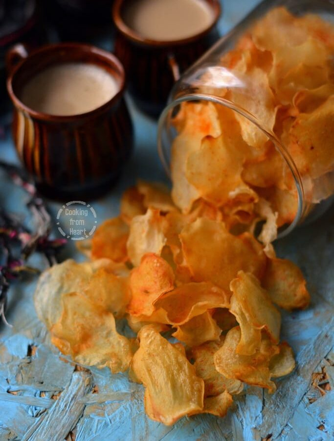 Homemade Potato Chips | Baked Potato Crisps