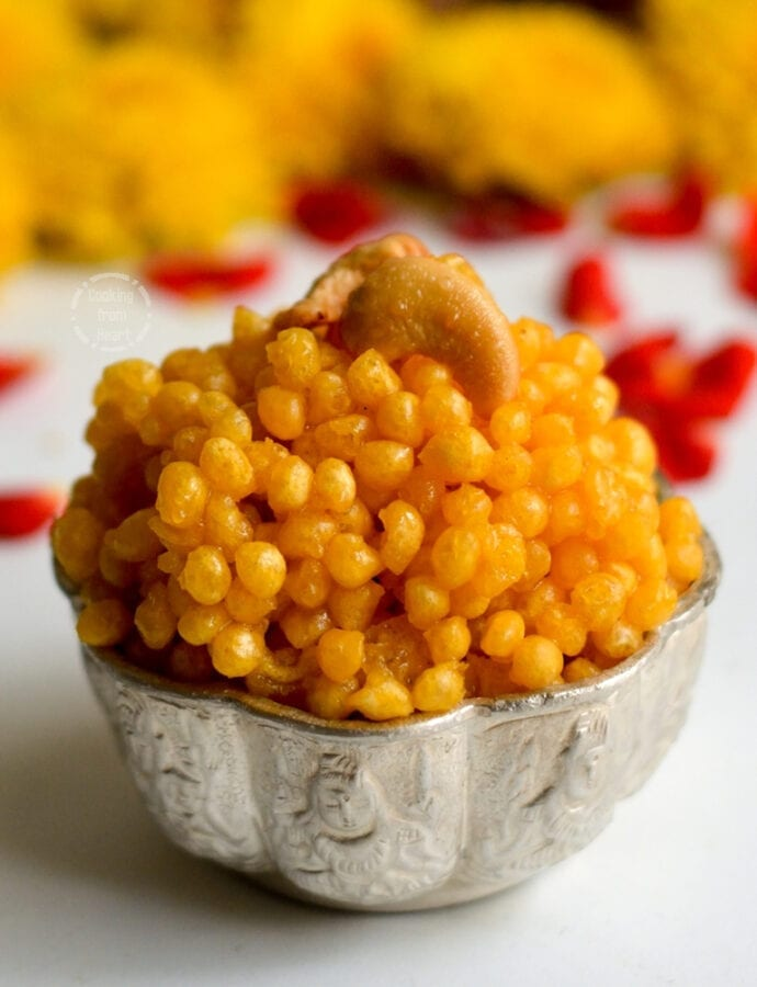 Sweet Boondi | Easy Sweet Boondi Recipe