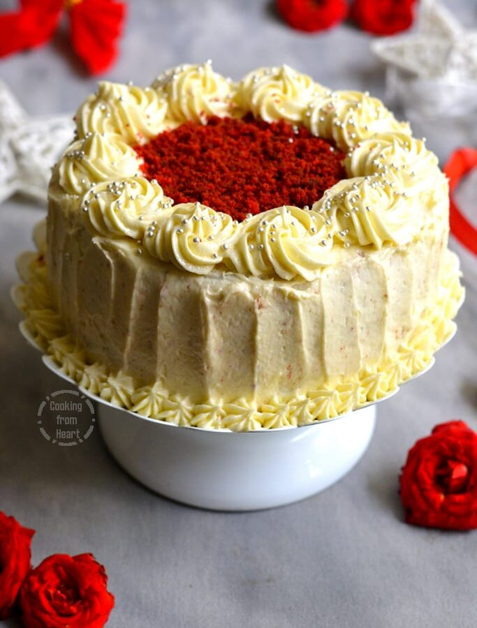 Eggless Red Velvet Cake