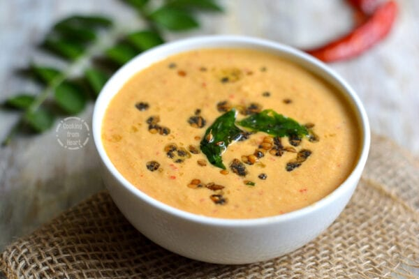 Red Chilli Coconut Chutney