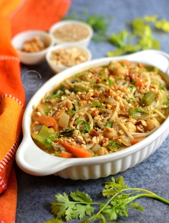 Thai Vegetable Curry Noodles
