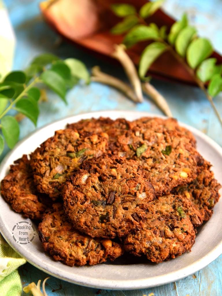 How to make Vazhaipoo Vadai in Air Fryer